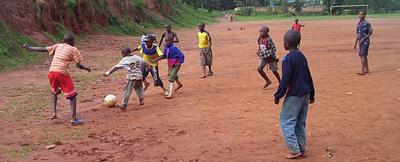 Ubaka U Rwanda boys playing football