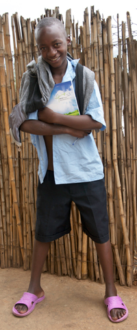Jack (14) has been with Ubaka U Rwanda for 2 years